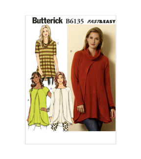Butterick Misses Top-B6135