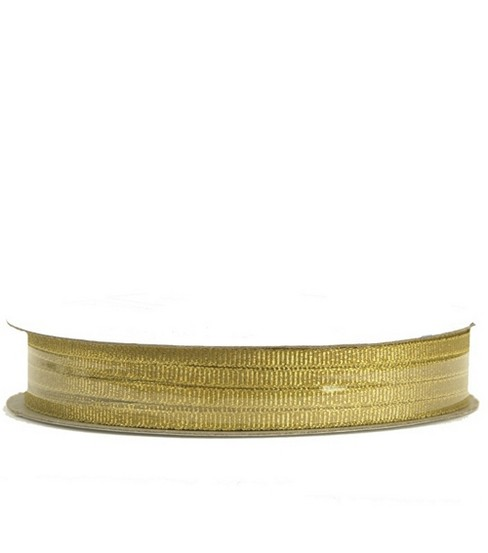 Offray Metallic Fancy Ribbon 1/8\u0022-10 Yds-2 Colors