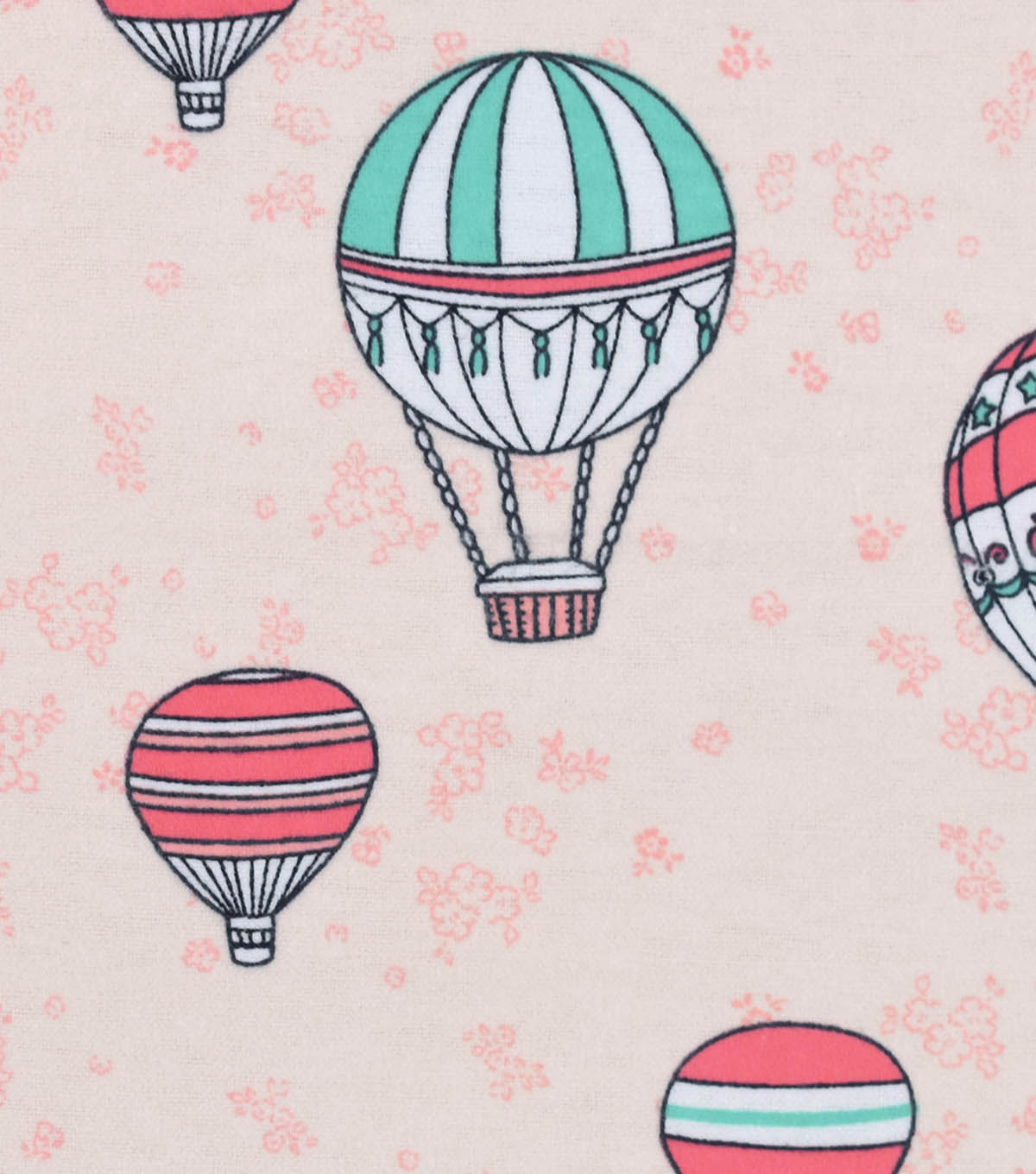 Snuggle Flannel Fabric -Hot Air Balloons