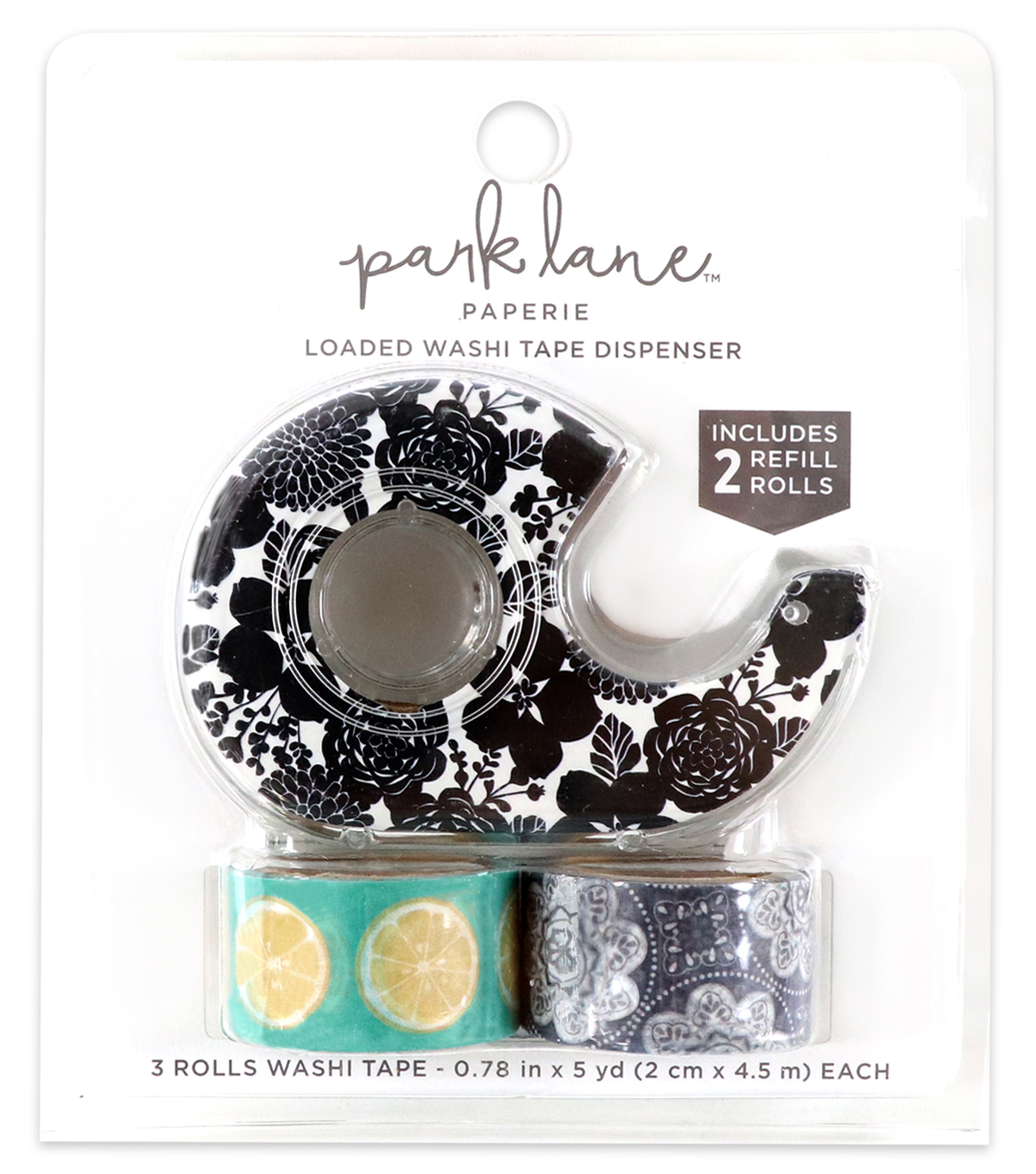 Park Lane Decorative Tape-Black & White