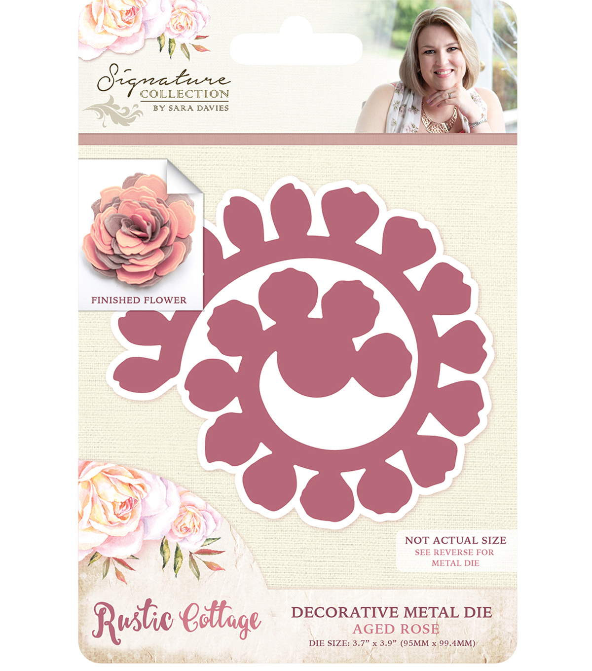 Sara Davies Signature Rustic Cottage Metal Dies-Aged Rose