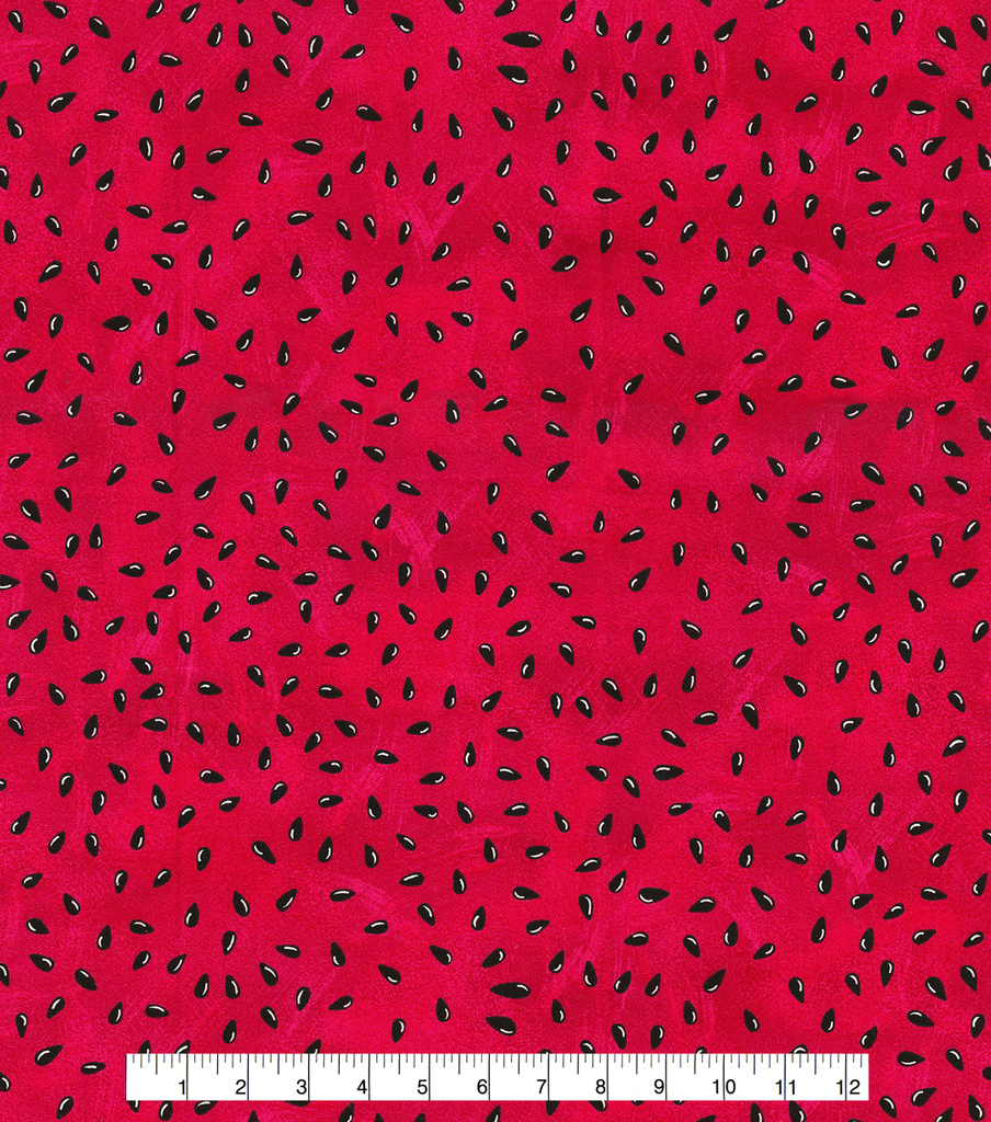 Novelty Cotton Fabric -Watermelon Seeds