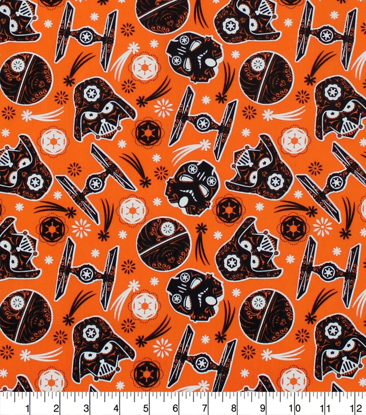 Halloween Star Wars Cotton Fabric -Dark Side Glow