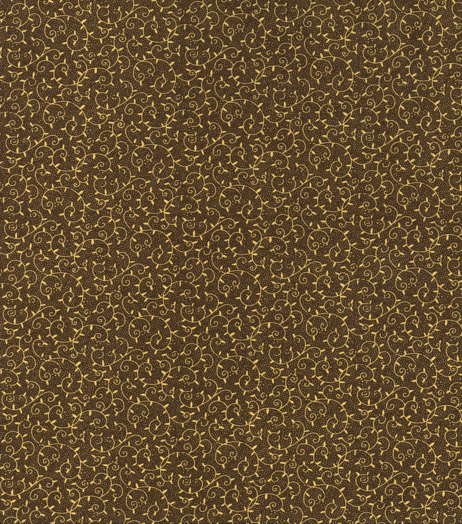 Keepsake Calico Cotton Fabric 43\u0022-Floral Vines on Brown