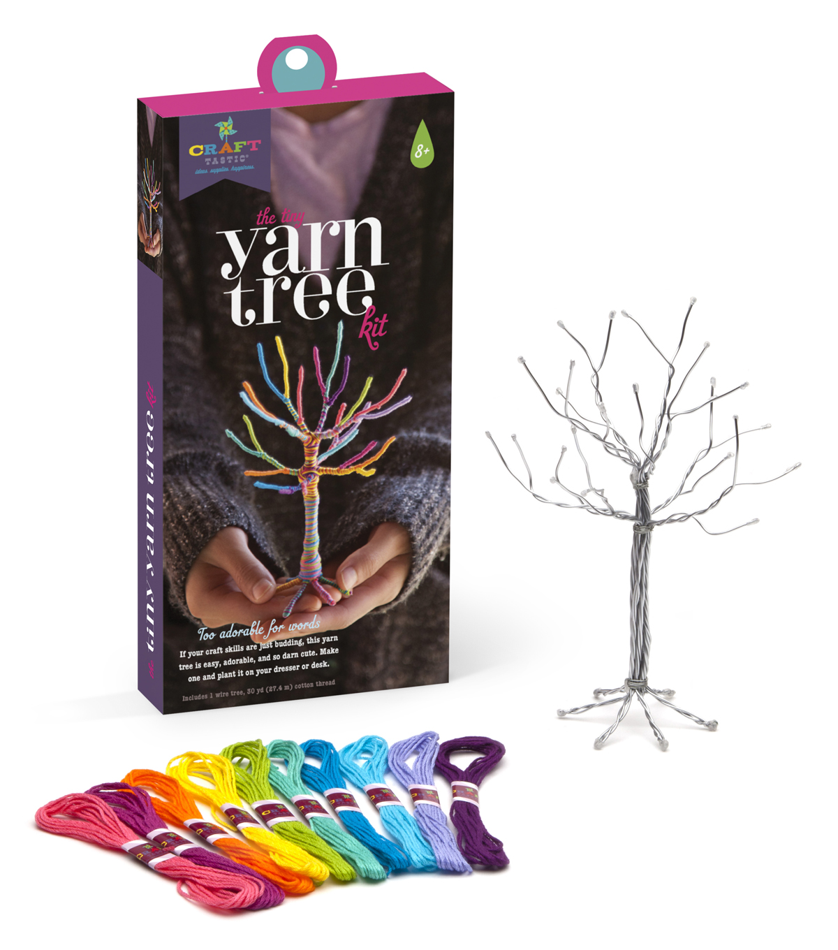 Craft-Tastic Tiny Yarn Tree Kit