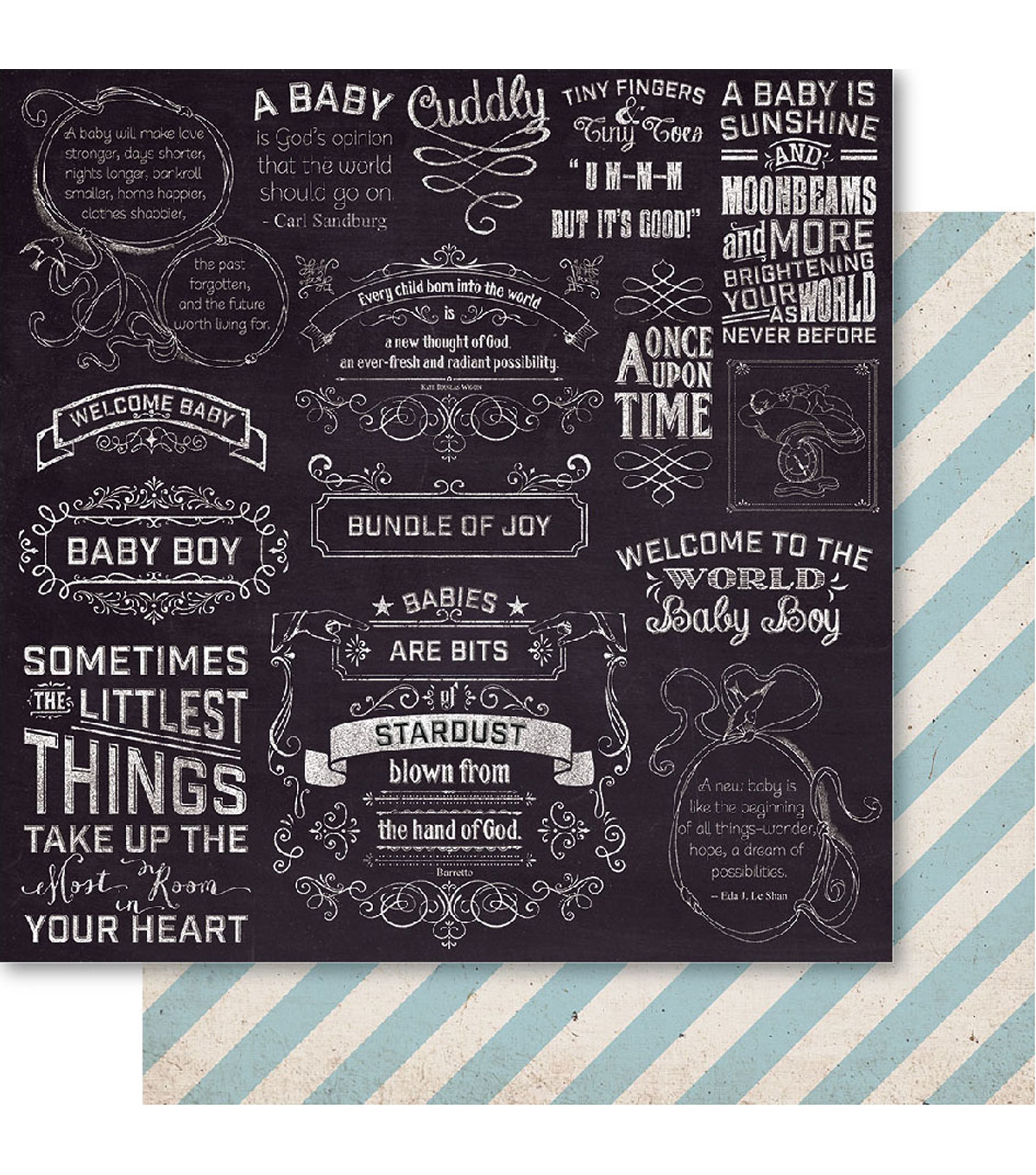 Bella! Baby Boy Double-Sided Cardstock-Little Things