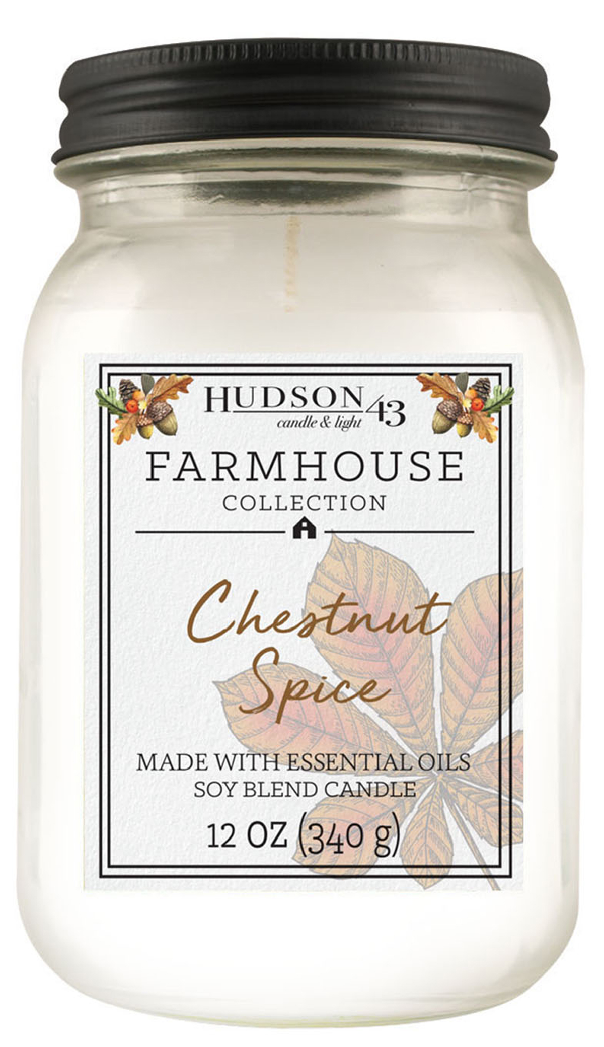 Hudson 43 Candle & Light Farmhouse Collection Chestnut Spice Candle