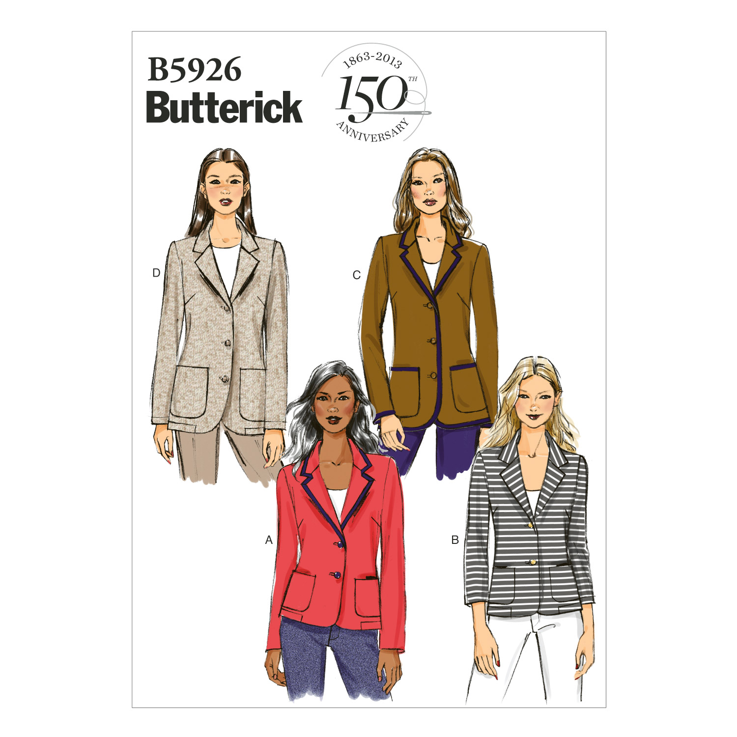 Butterick Misses Jacket-B5926