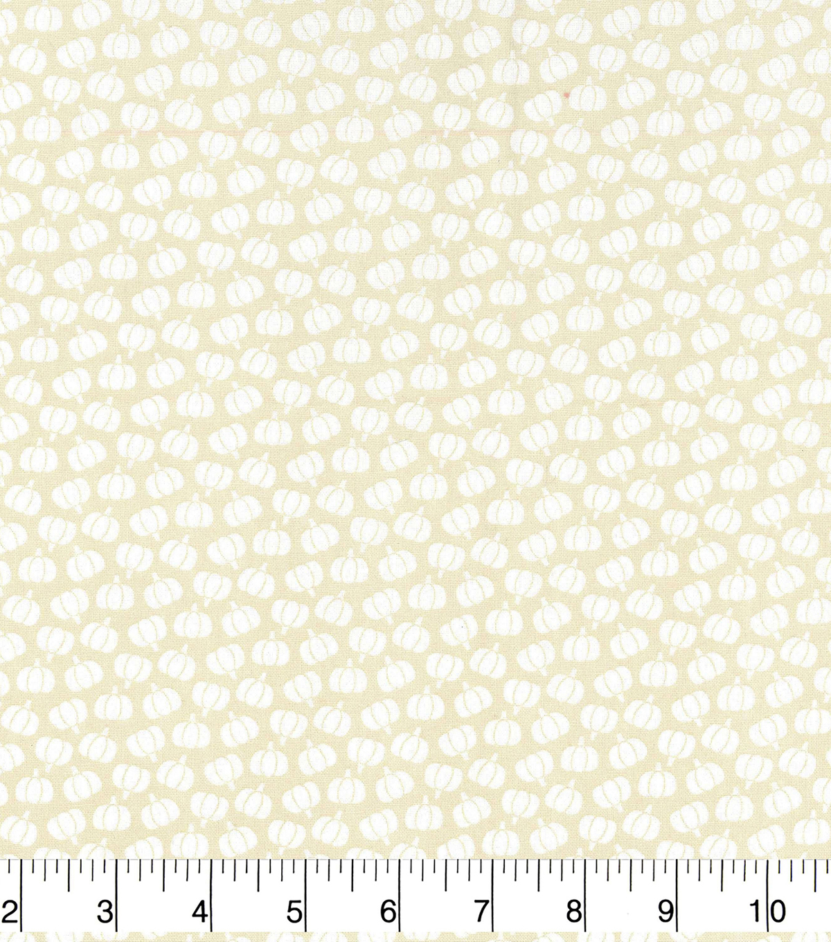 Harvest Cotton Fabric-Mini Tossed Pumpkins on Cream