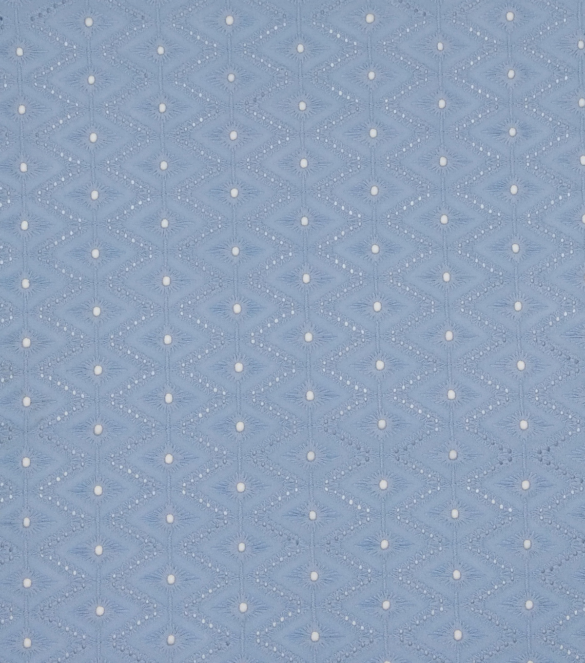 Specialty Cotton Diamond Eyelet Fabric-Powder Blue