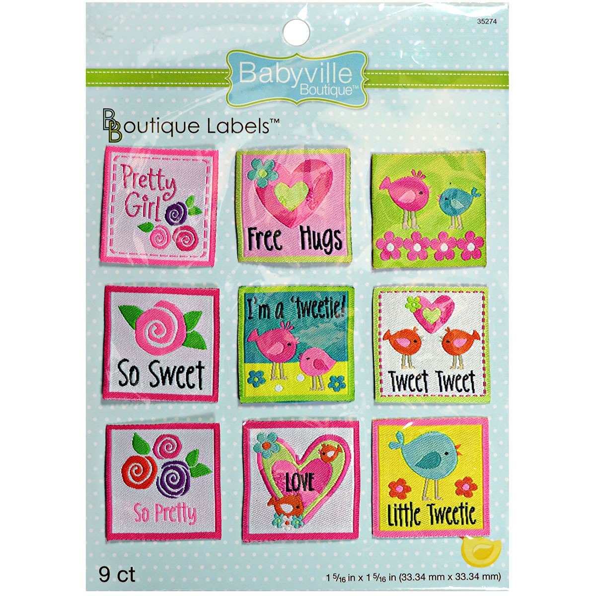 Babyville Boutique Labels Girl 9pcs