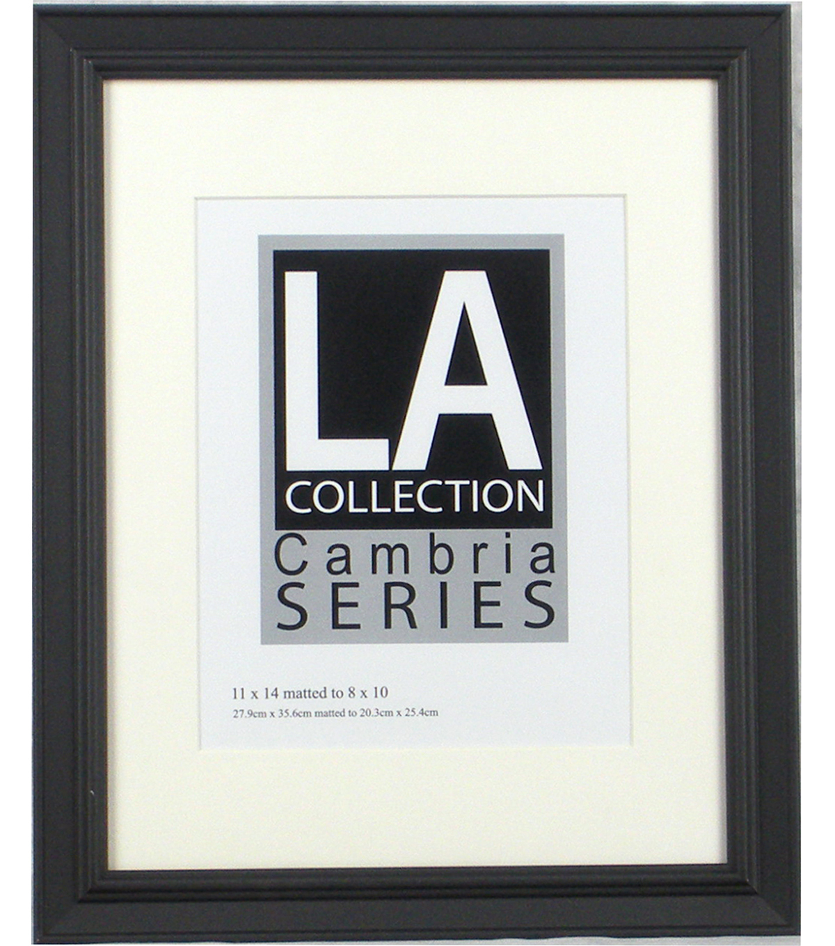 LA Collection Cambria Series Plastic Wall Frame 11\u0027\u0027x14\u0027\u0027-Black