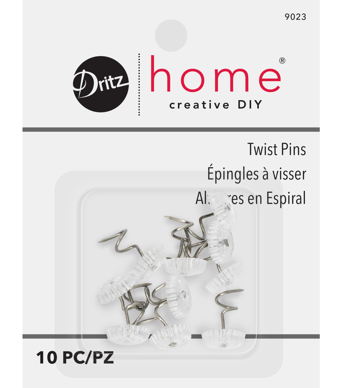 Twist Pins-Clear