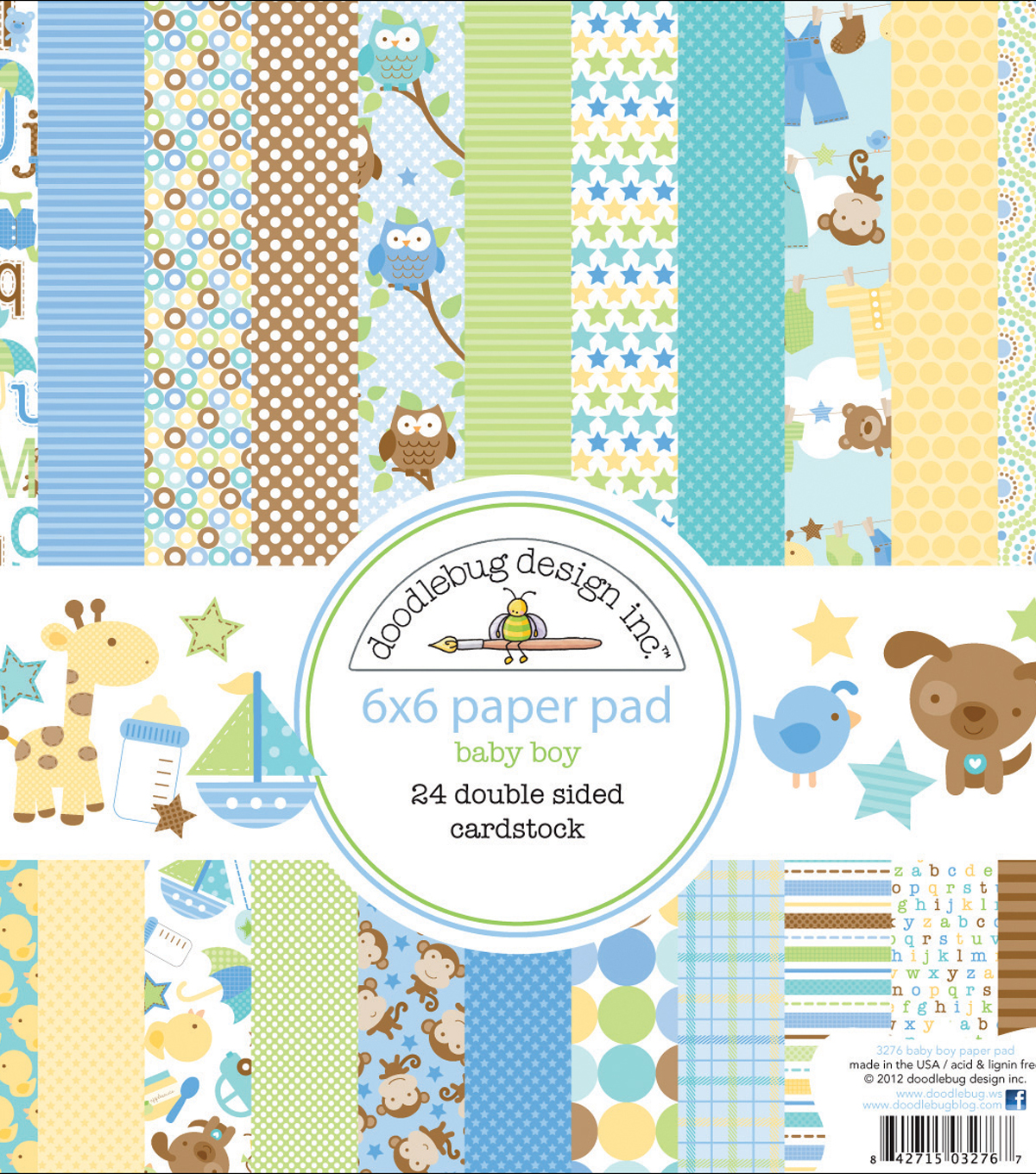 Snips & Snails Paper Pad 6\u0022X6\u0022-24 Double-Sided Cardstock Sheets