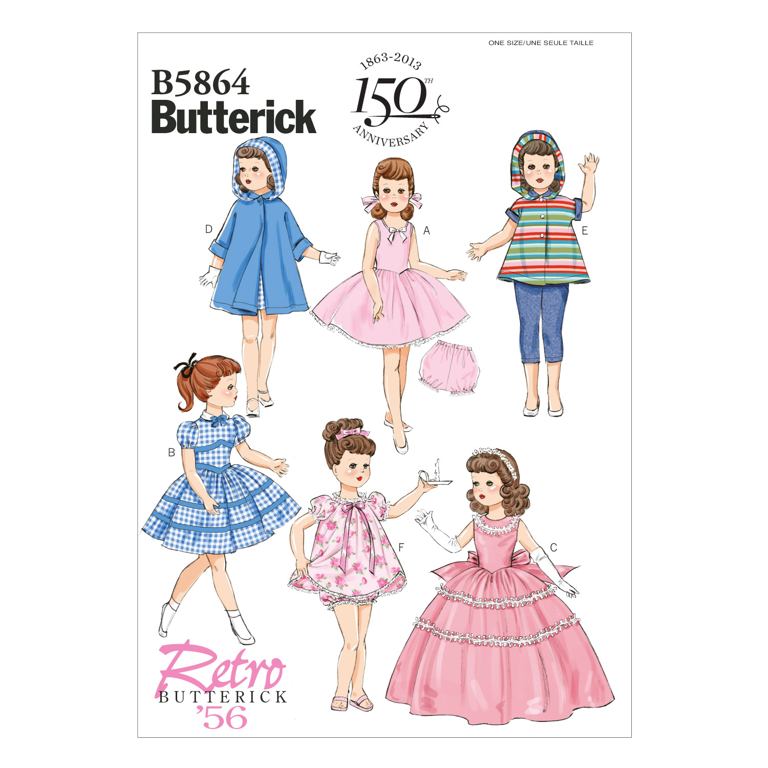 Butterick Crafts Doll Clothes-B5864