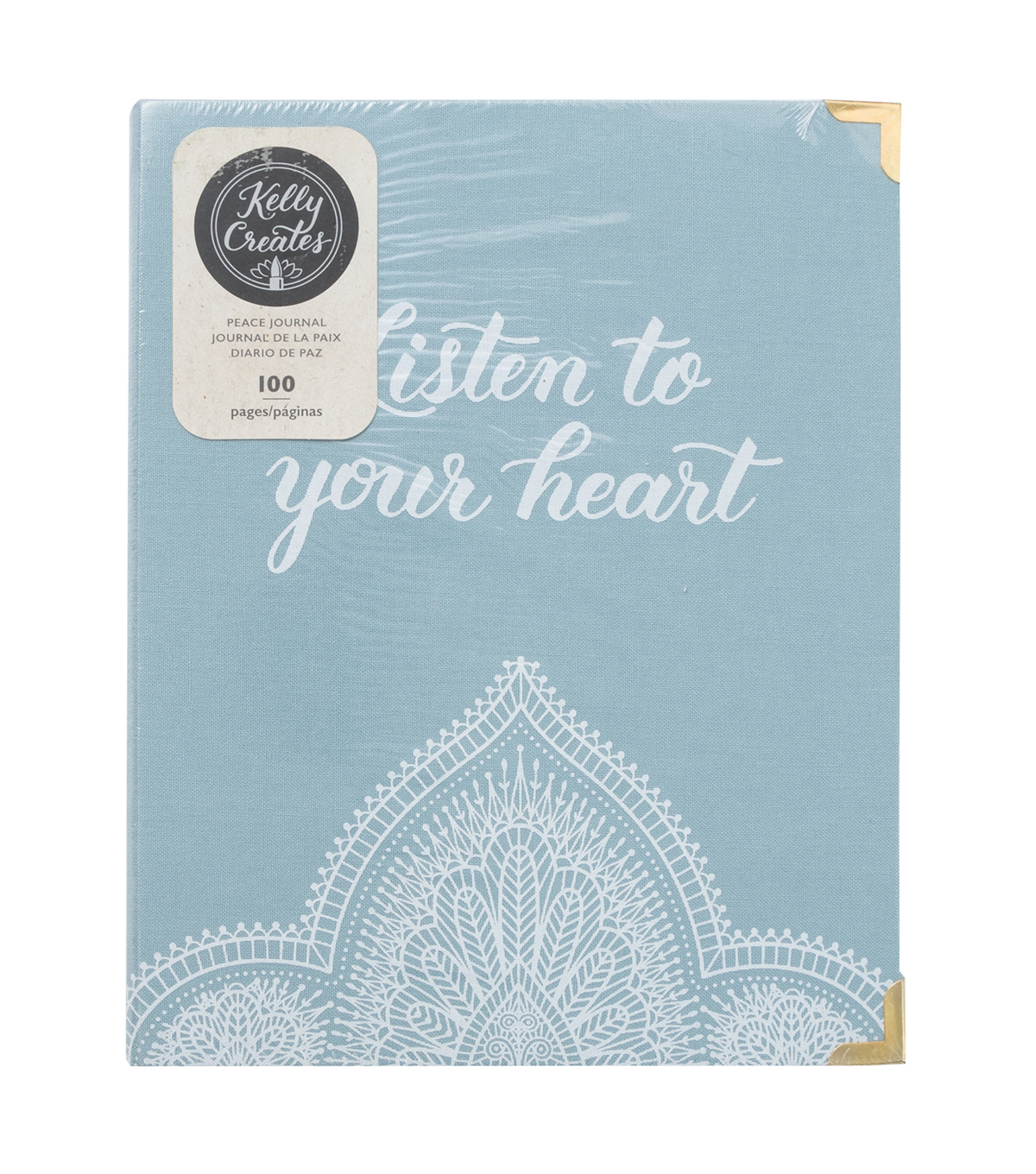 Kelly Creates 100-sheets A5 D-Ring Journal-Peace