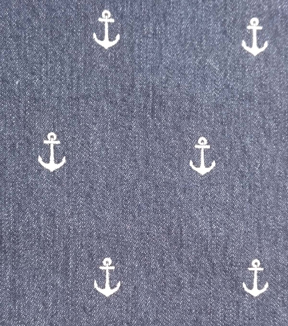 Denim Fabric-6 oz Painted Anchor