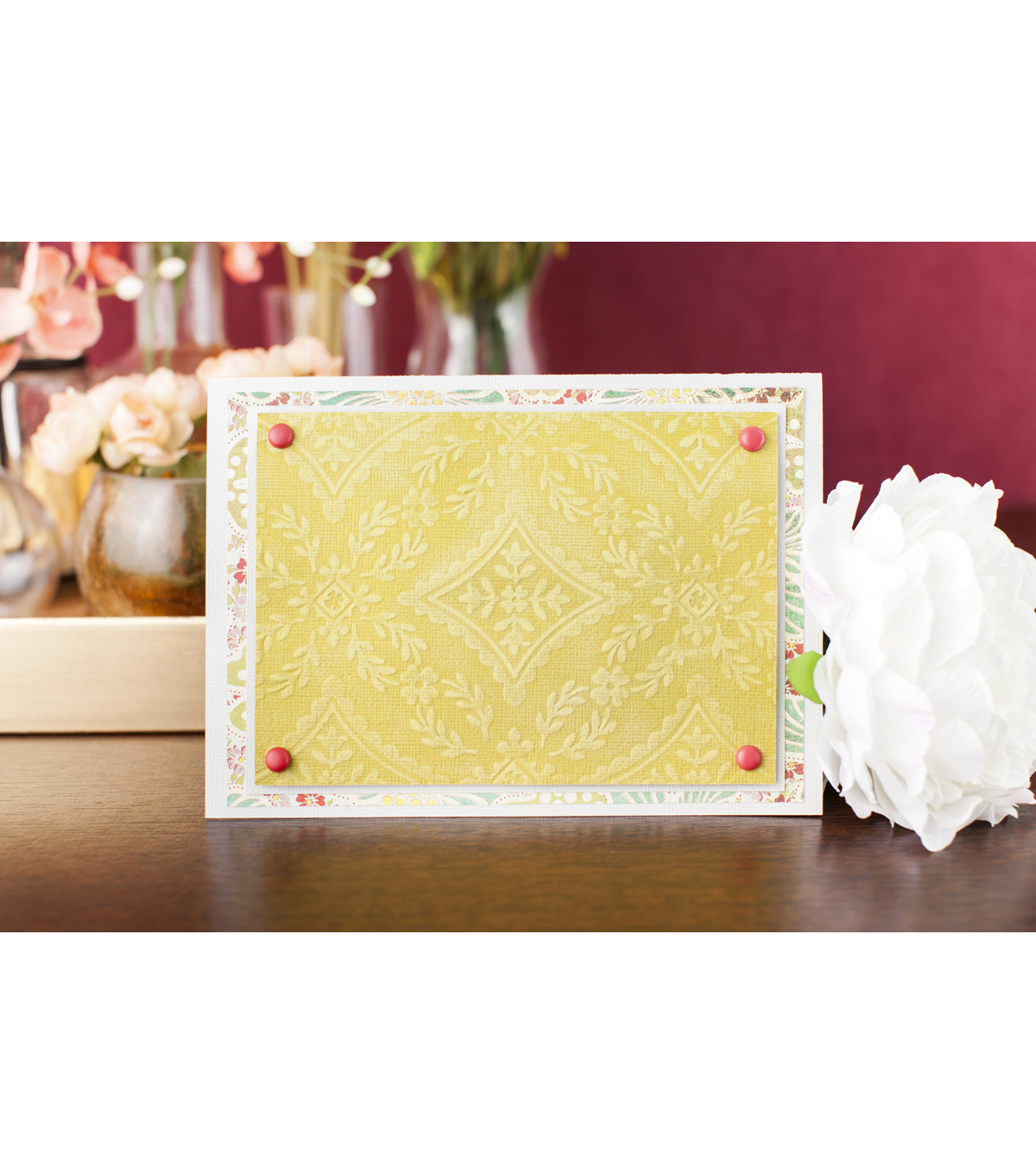 Cricut Cuttlebug Anna Griffin Diamond Flourish 5x7 Embossing Folder