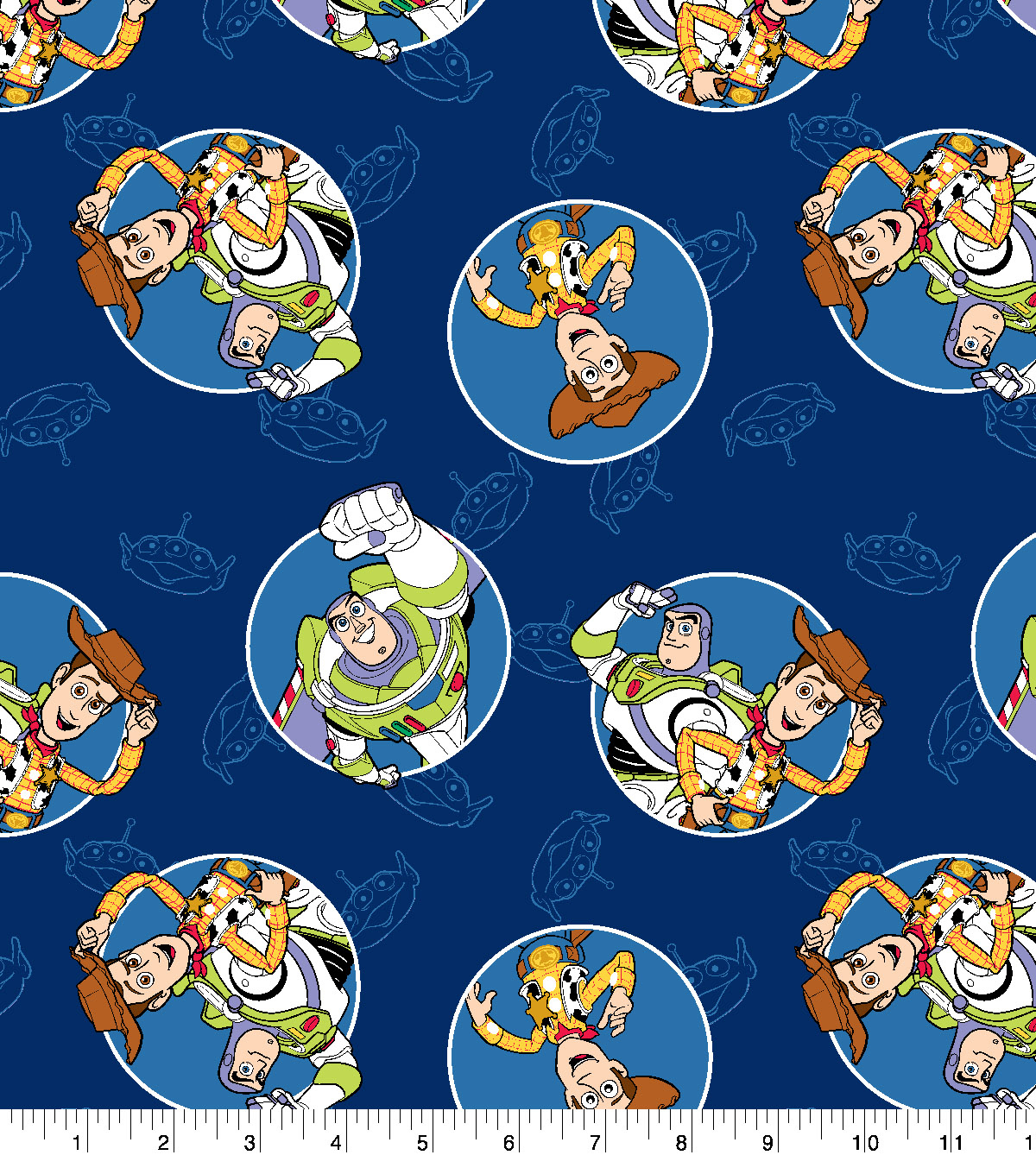Disney Toy Story 4 Cotton Fabric-Buzz And Woody Badges