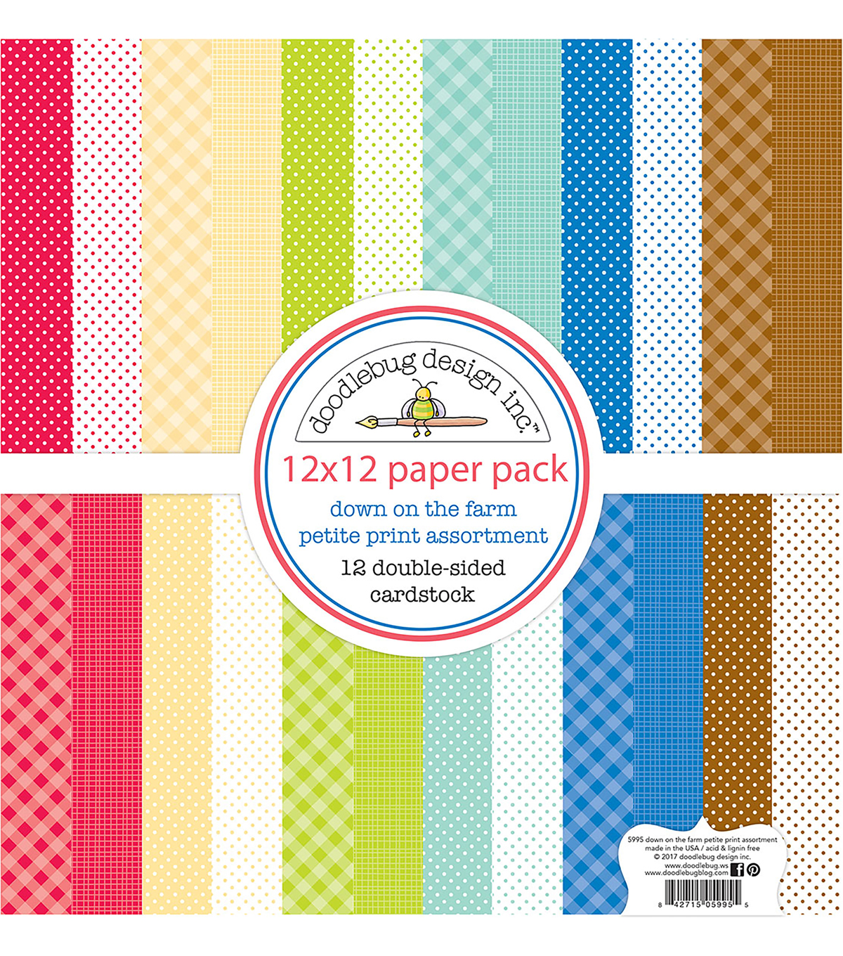 Doodlebug Petite Print 12\u0027\u0027x12\u0027\u0027 Double-sided Cardstock-Down on the Farm
