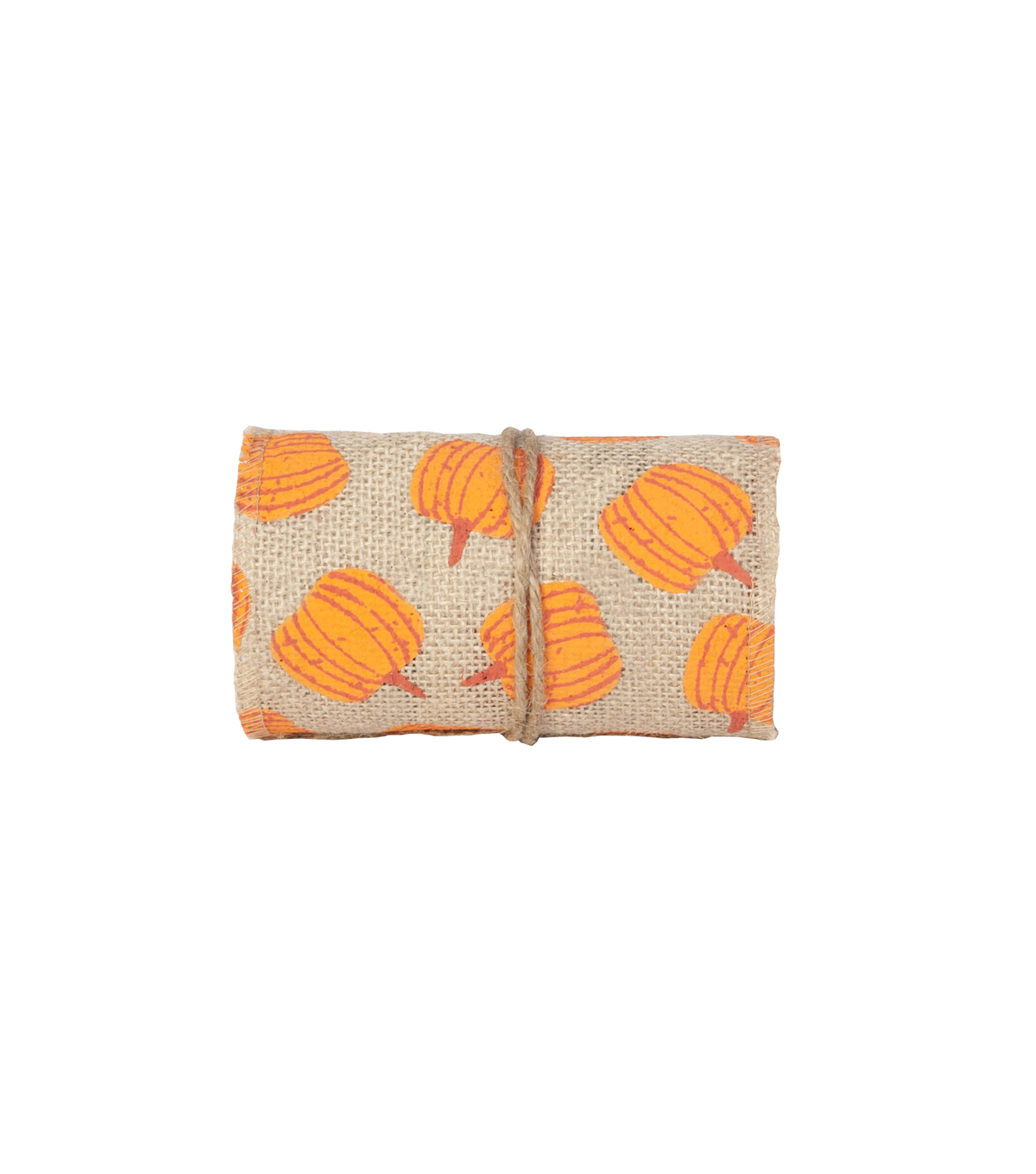 Simply Autumn Burlap Roll 5\u0027\u0027x15\u0027-Pumpkins on Natural