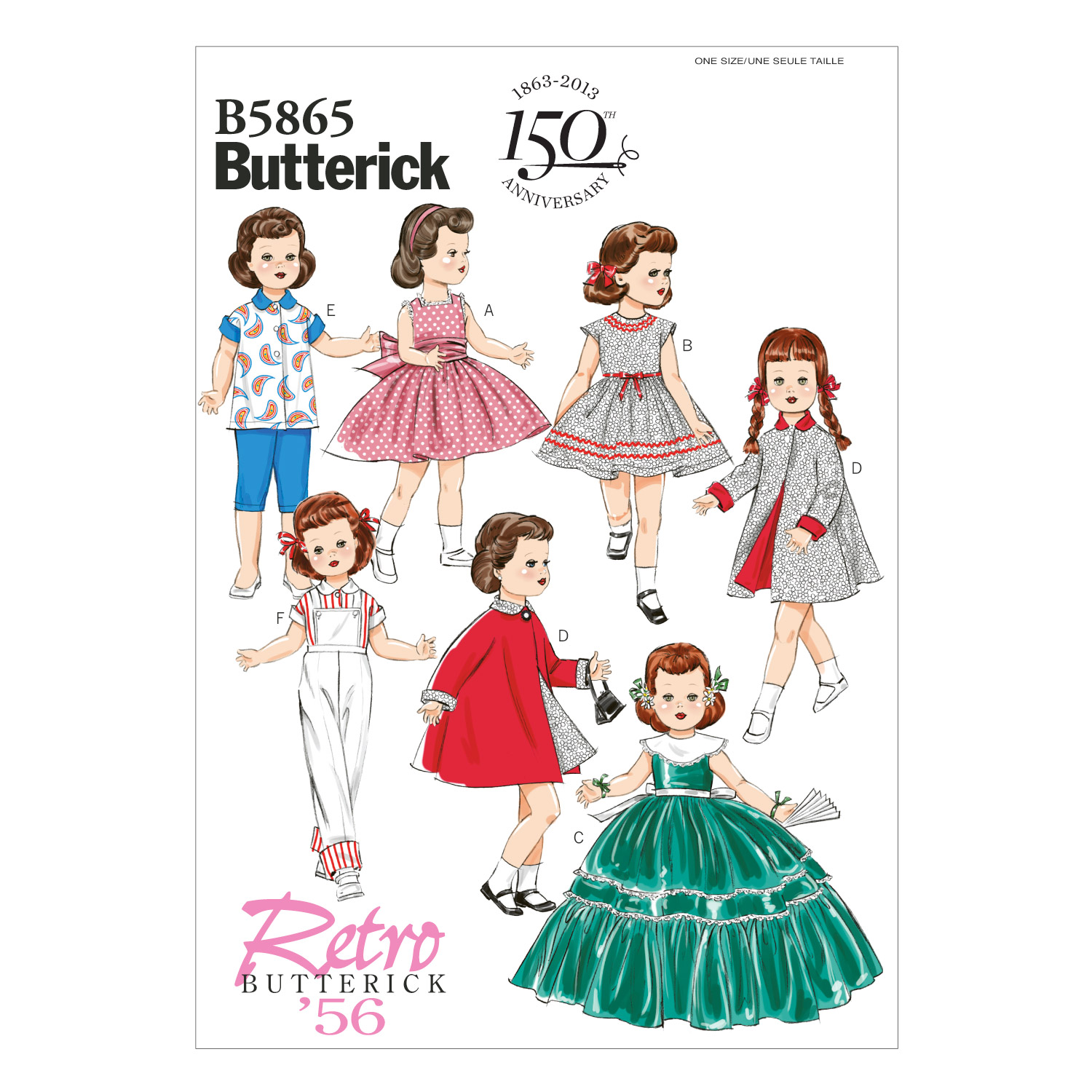Butterick Crafts Doll Clothes-B5865