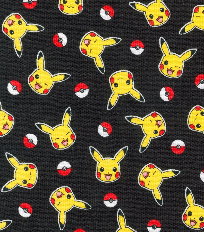 Pokemon Pikachu Cotton Fabric Toss Joann