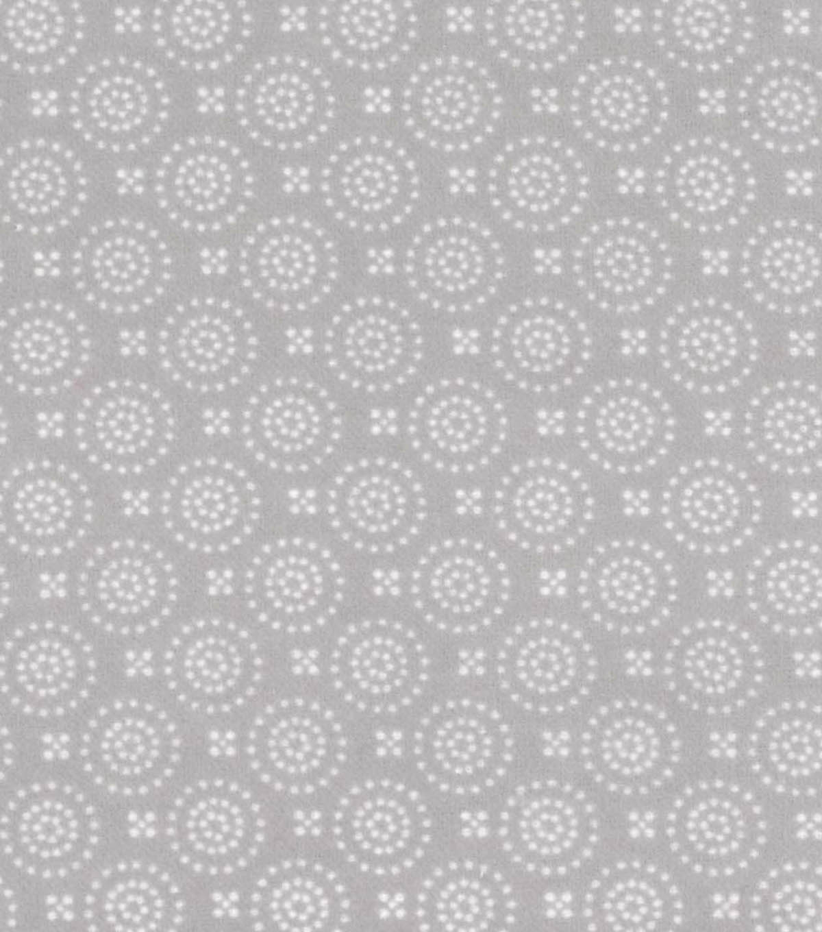 Snuggle Flannel Fabric -Dotted Circles