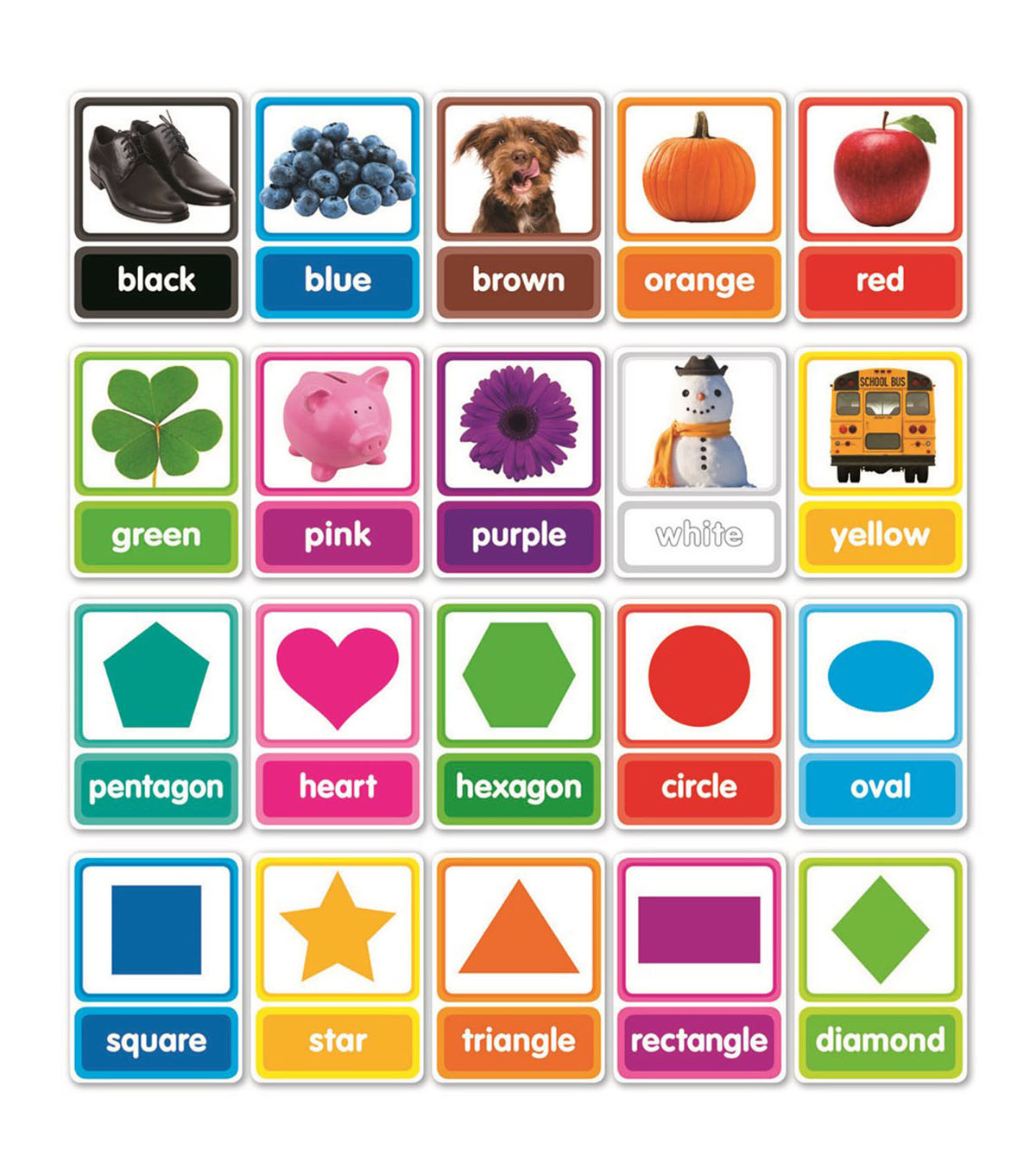 Colors & Shapes in Photos Bulletin Board Set