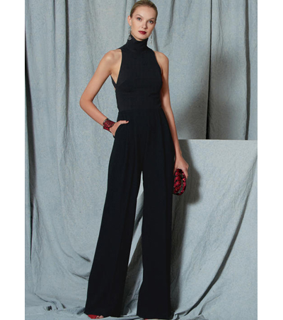 Vogue Pattern V1524 Misses\u0027 Open-Back, Banded Jumpsuit-Size 6-8-10-12-14