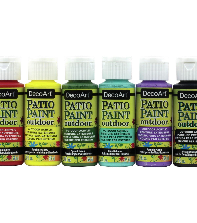 Decoart Patio Paint Outdoor Acrylic Sampler Kit