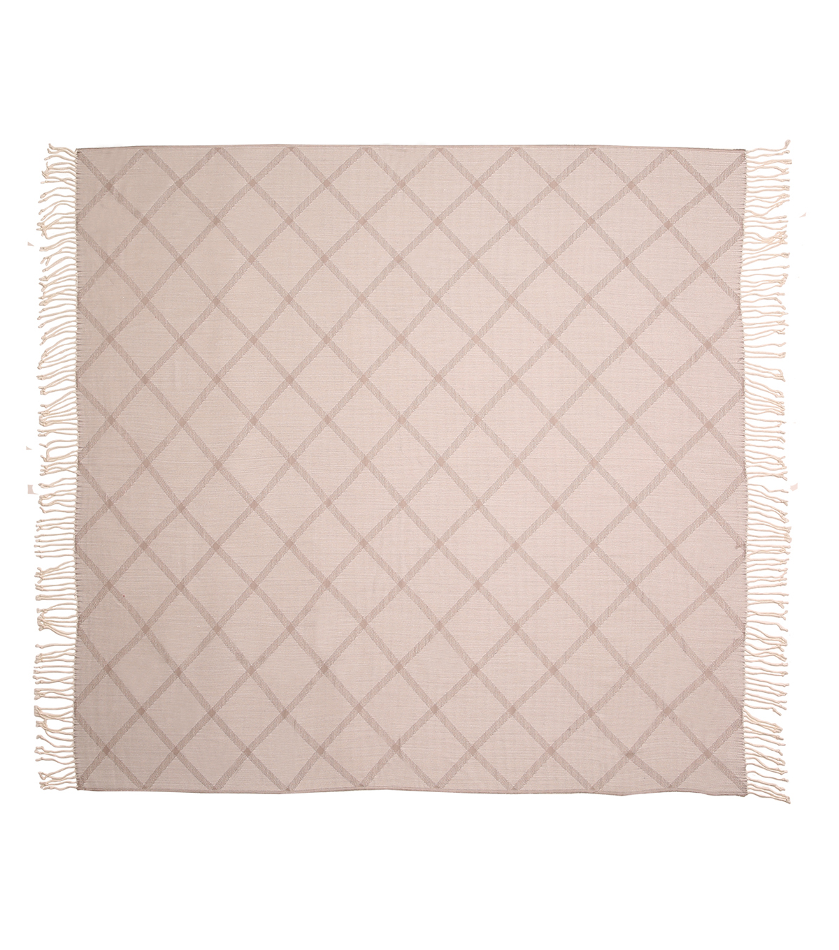Simply Autumn 50x60\u0027\u0027 Plaid Throw-Cream