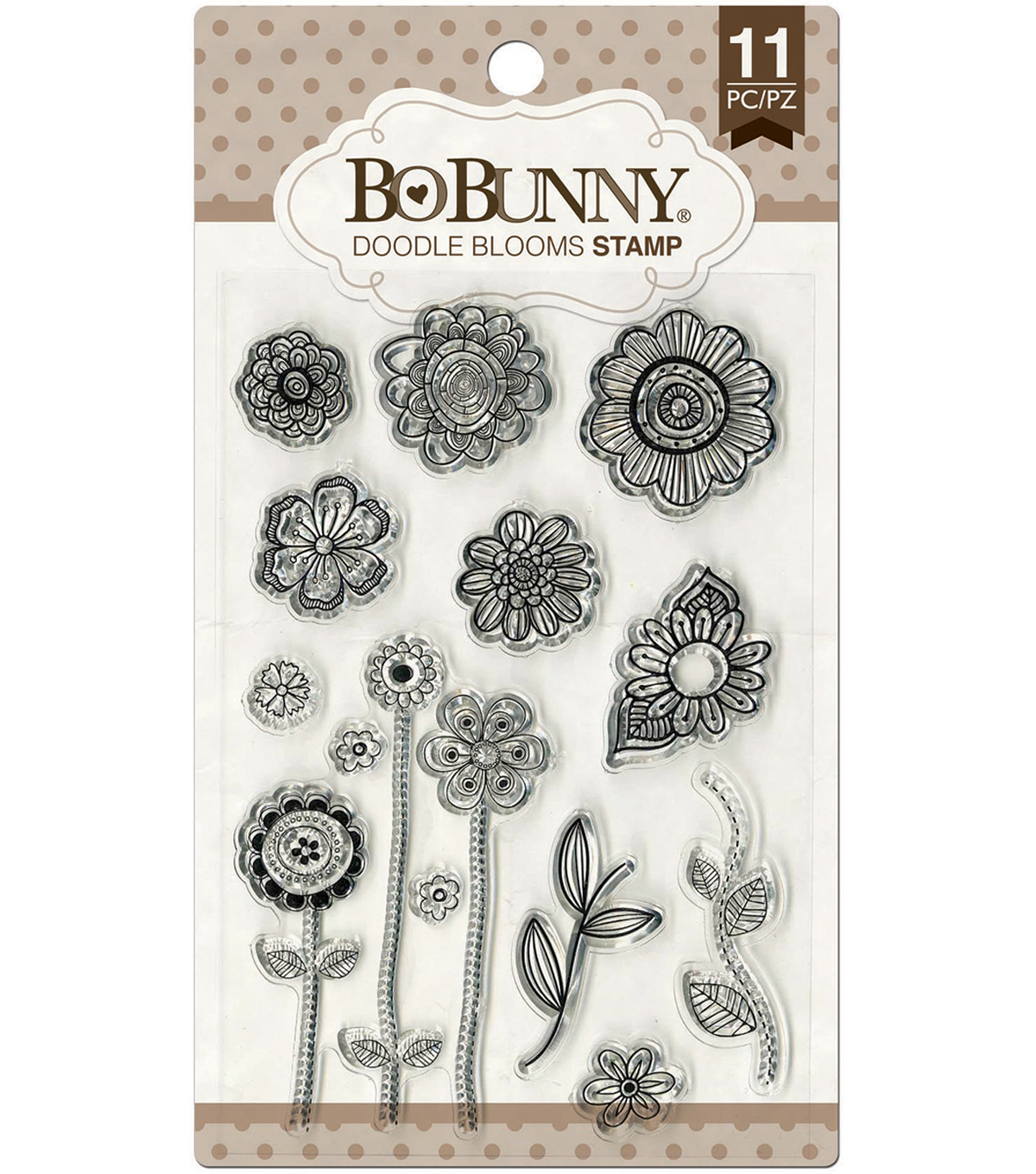 Bo Bunny-Doodle Blooms Stamps