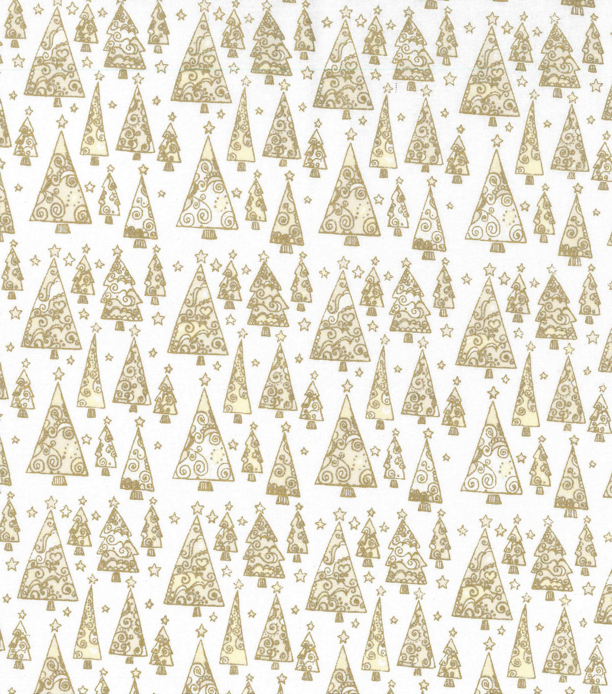 Christmas Cotton Fabric 43\u0022-Metallic Triangle Christmas Trees