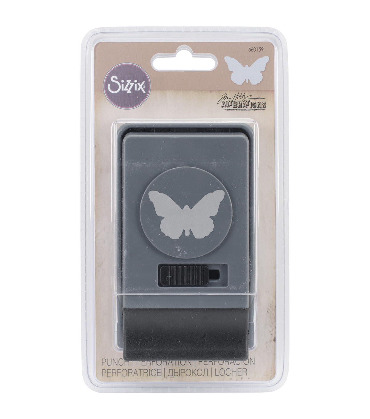 Sizzix Tim Holtz Large Paper Punch-Butterfly