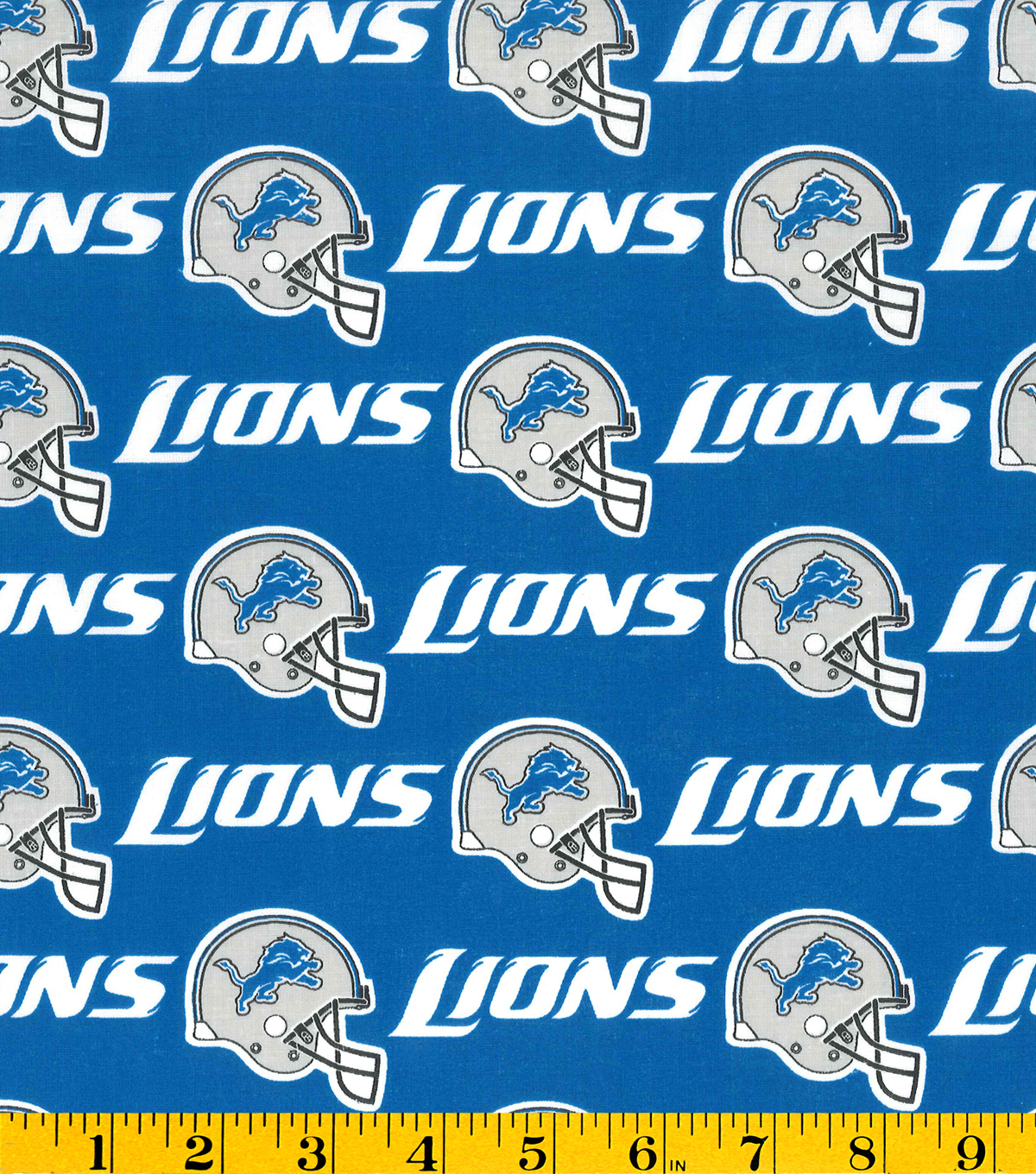 Detroit Lions Cotton Fabric -Helmet Logo