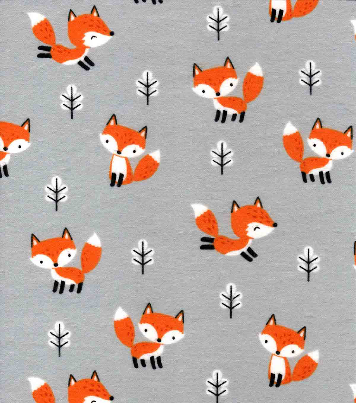 Nursery Flannel Fabric-Fox in the Forest