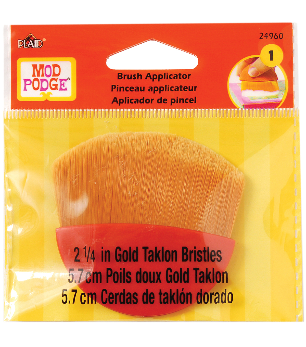 Mod Podge Brush Applicator 2.25\u0022-Gold Taklon