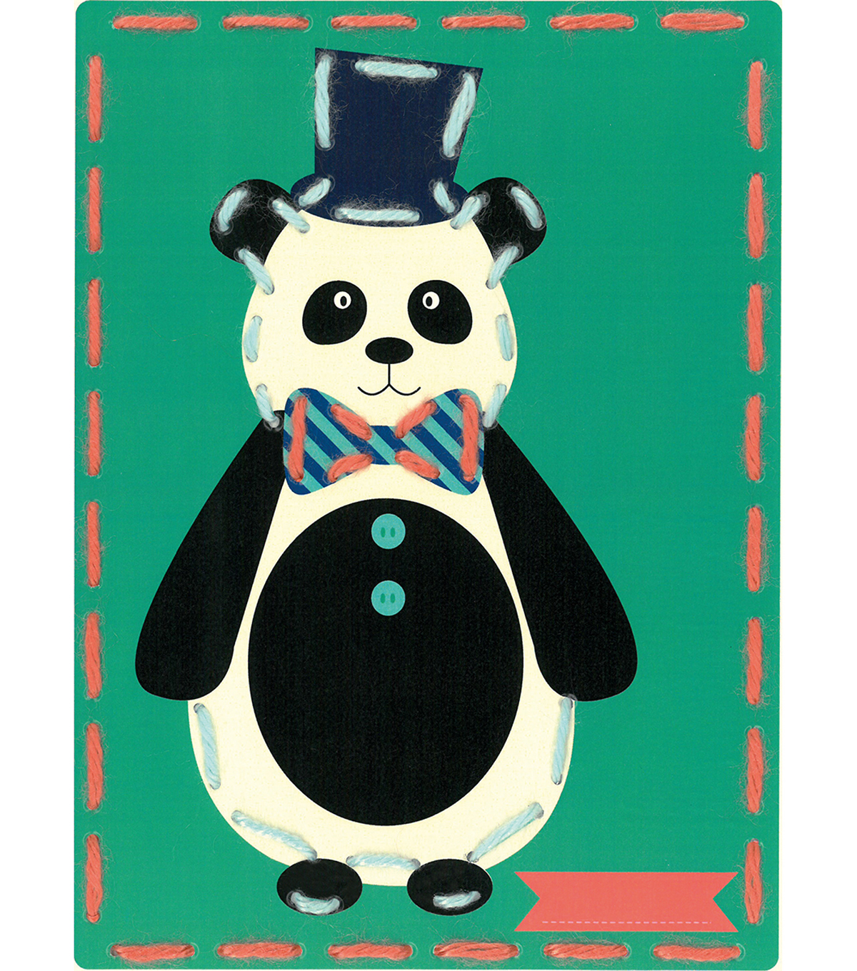 Vervaco I Stitch! Kits 4 Kids Embroidery Cards Kit-Circus Panda