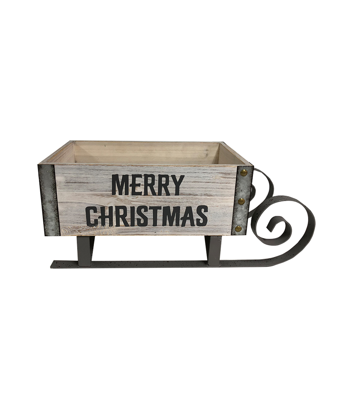 Maker\u0027s Holiday Farmhouse Basket Sled-Merry Christmas
