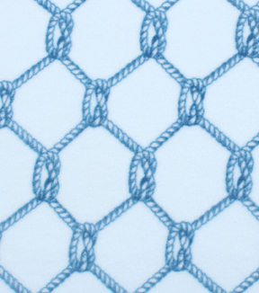 Anti-Pill Fleece Fabric 61\u0022-Rope Nautical
