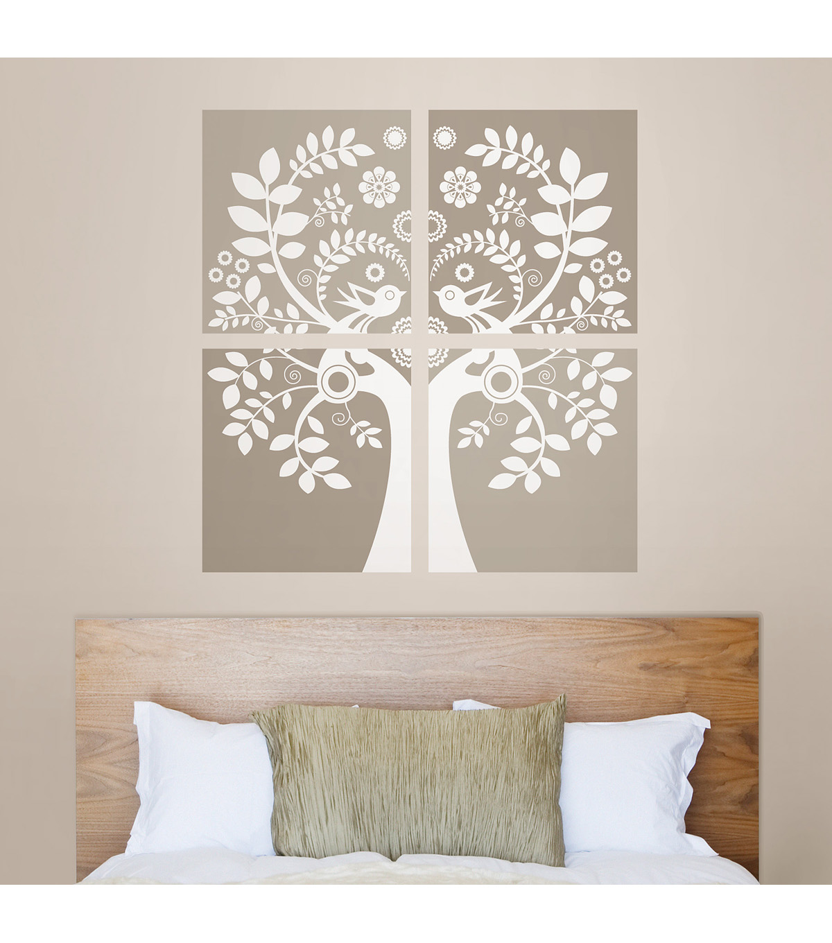Wall Pops Love Birds Wall Art Decal Kit, 4 Piece Set