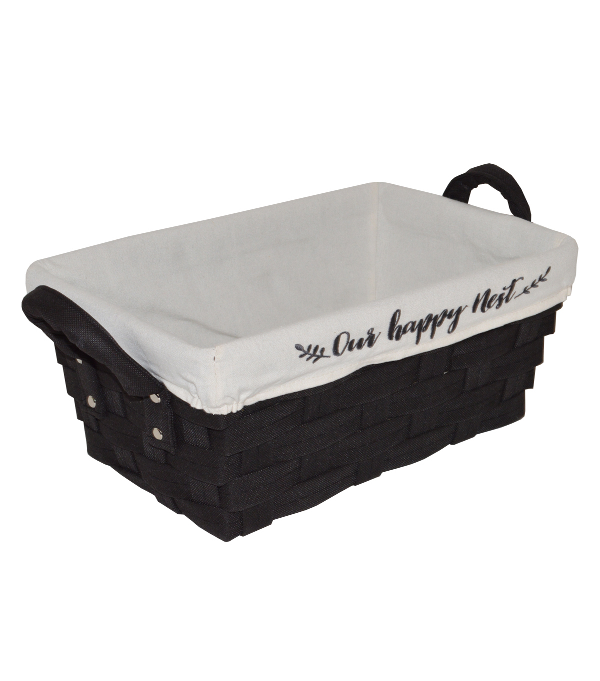 Farm Storage Non Woven Bin with Liner-Black Our Happy Nest