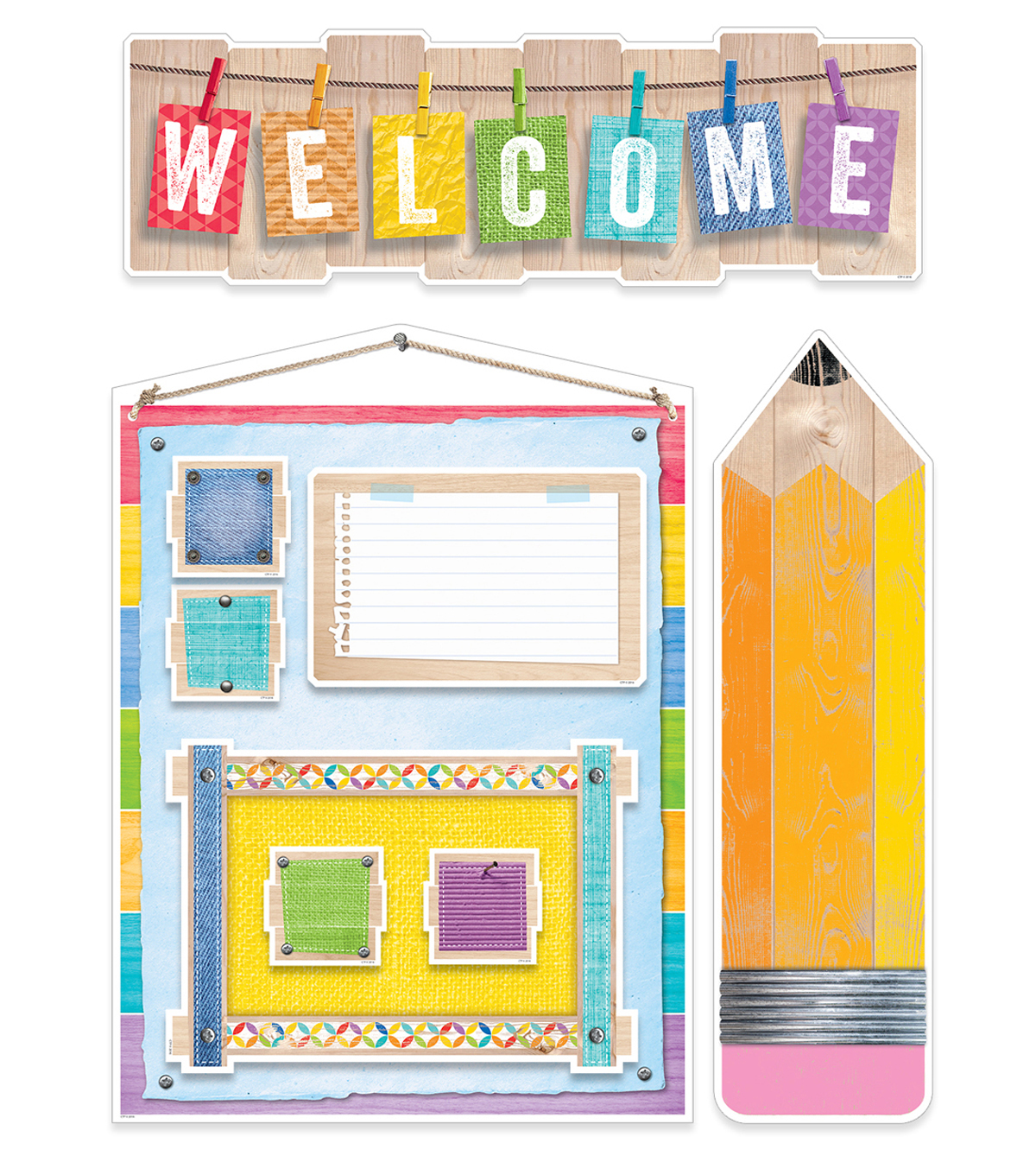 Upcycle Style Welcome Bulletin Board Set, 2 Sets
