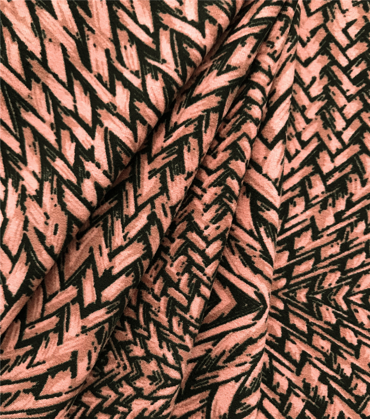 Ember Knit Prints Double Brushed Fabric-Brown Basket Weave