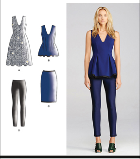 Simplicity Patterns Us1104H5-Simplicity Misses\u0027 Separates Cynthia Rowley Collection-6-8-10-12-14