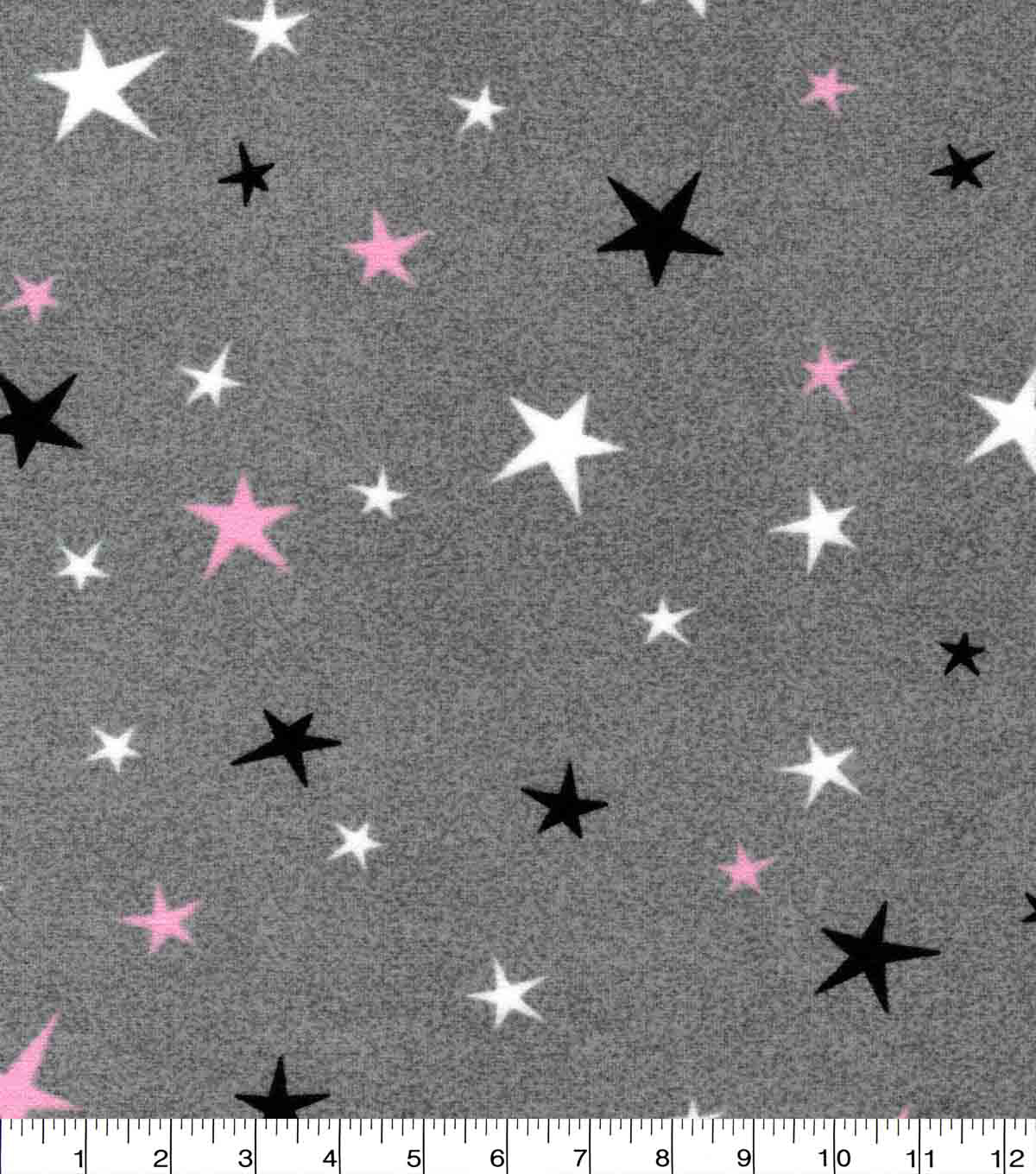 Luxe Flannel Fabric-Pink Stars