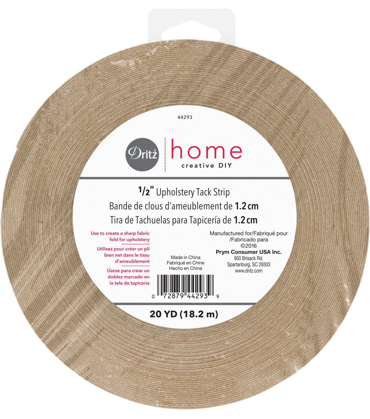 Dritz Home 0.5\u0022 Wide x 20Yds Upholstery Tack Strip Natural