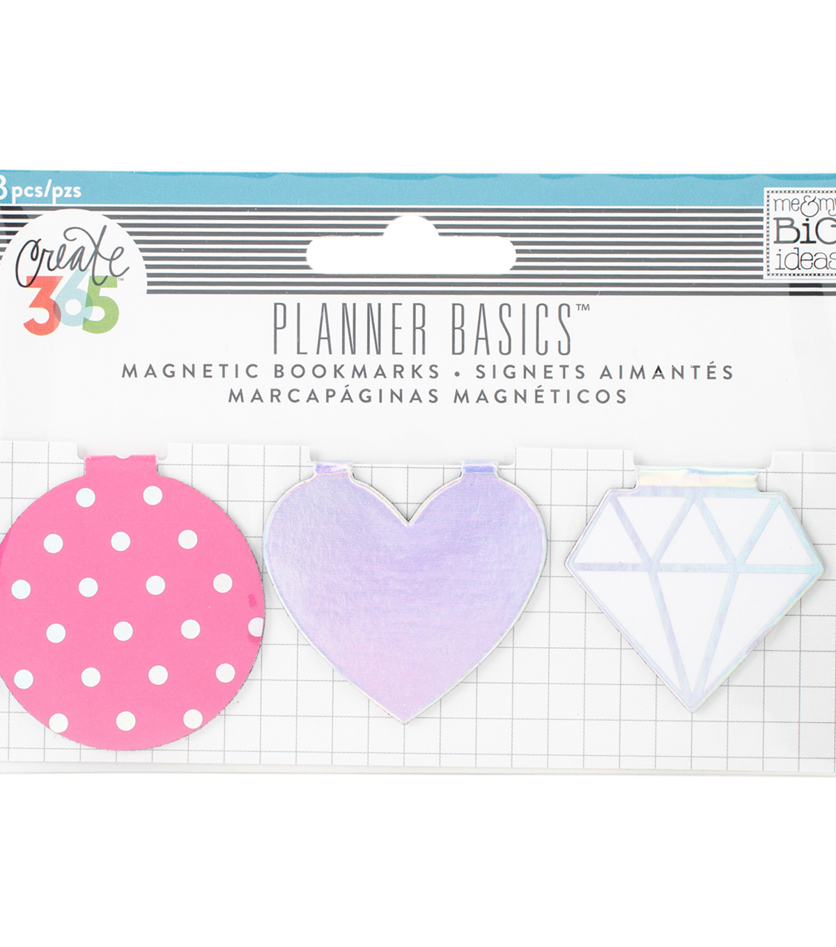 The Happy Planner Magnetic Clips-Neon