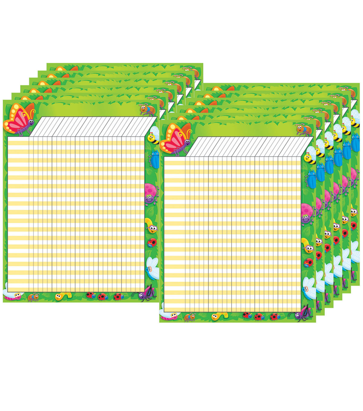 Bugs Incentive Chart, 17\u0022 x 22\u0022, Pack of 12